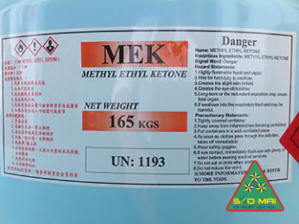 Dung môi Methyl Ethyl Ketone