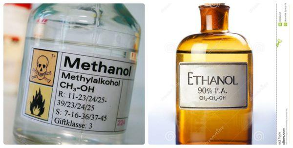 Phân biệt ethanol và methanol